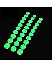 Glow in The Dark Tape Dots, 1 inch rond, 100 gloeiende stippen sticker op rol, geschikt voor schakelaars, muren, paden, afstandsbedieningen, nooduitgangen en decoratie