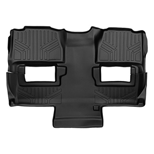MAX LINER B0160 Black Floor Mat (for Tahoe 2009-2014 / Yukon 2011-2014 Bucket Seats Second/Third Row) (Row Second Bucket Seats)