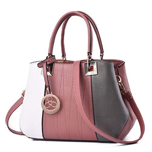 LIUGHGB PU Leather H Bags Shoulder Bag Crossbody Messenger Tote Satchel Top H le Bags for Women Lady PK