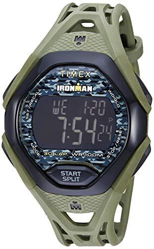 Timex Men's TW5M23900 Ironman Sleek 30 Green/Black Resin Strap Watch
