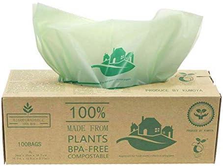 50 luxtons biodegradables trazadores de líneas de – 6/10/30 litros de alimentos para cocina Degradable de la basura trazadores de líneas de EN 13432 - ...