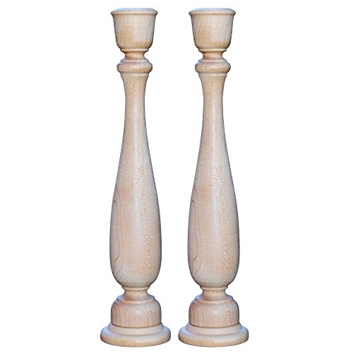 Unfinished Wooden Candlesticks Inches Candlestick