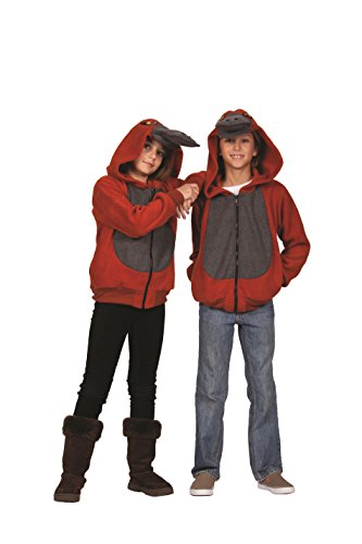 RG Costumes Boy 40538-L Patty Platypus Hoodie Costume, Rust/Gray, Large -