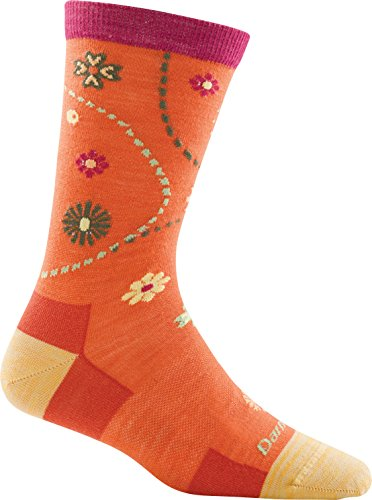 Darn Tough Garden Crew Light Sock - Women's Coral Large (Past Season)