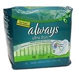 Always New 820504 Maxi Pads 16Ct LNG SPR Ultra Thin (12-Pack) Feminine Hygiene Wholesale Bulk Health & Beauty Feminine Hygiene
