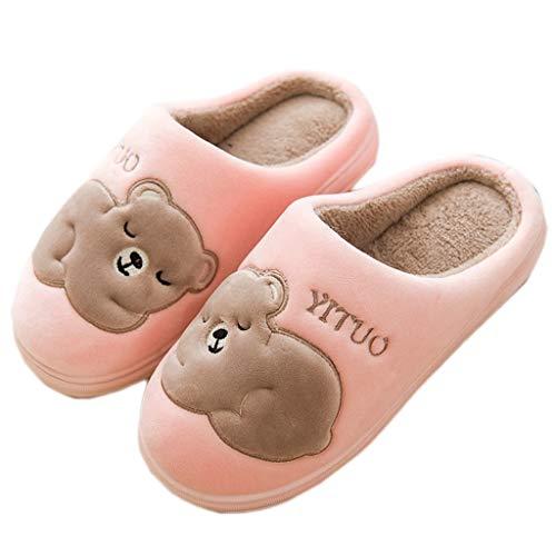 Tasche Home Unterseite größe Pink 40EU Winter Halbe Mit Lovers Baumwolle 39 Pelzpantoffeln Farbe Pink Rutschfeste Nette AMINSHAP Hausschuhe Weibliche Modelle Indoor Dicke BwAYzpq