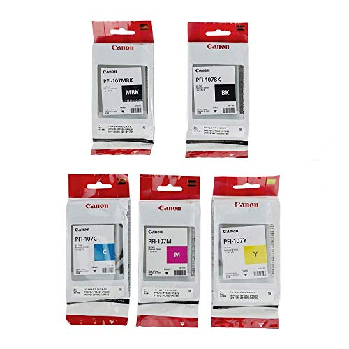 - Canon PFI-107 130ml Ink Tank Complete Set for iPF680, 685, 780, 785 Printers