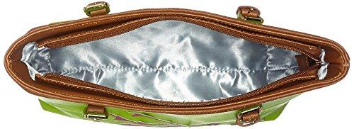 Lady Edelweiss Trachtentasche - Borse a secchiello Donna, Grün (Kiwi), 9x27x35 cm (B x H T)