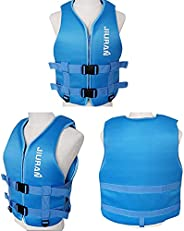 JUZIPI Life Jacket for Adult/Children, Swimming Vests with Adjustable Buckle, Safety Water Sports Float Jacket