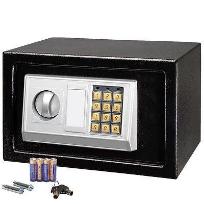 12 x8 electronic black safe box digital security keypad lock offic. Black Bedroom Furniture Sets. Home Design Ideas