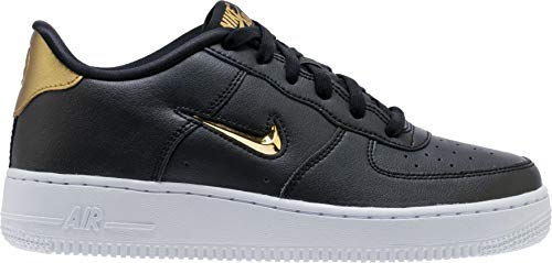 AIR FORCE 1 `07 LV8 LOW JEWEL BLACK METALLIC GOLD