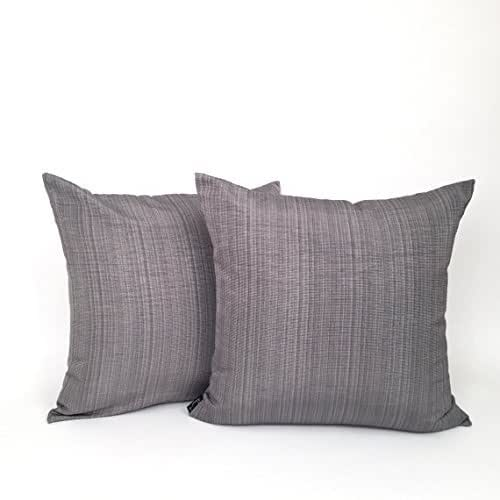 Amazon.com: Large Solid Grey Woven Accent Pillow: Handmade
