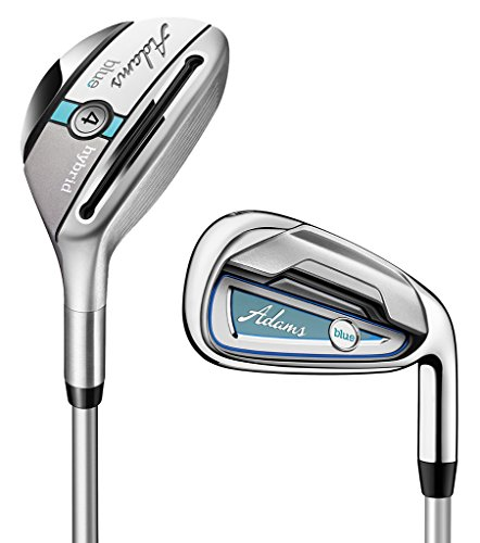 Adams-Golf-Womens-F7530003-Golf-Combo-Set-Right-Hand-Ladies-Flex-Graphite-Hybrids-with-Graphite-Irons-45R-6-P-Blue