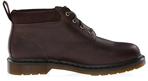 Dr.Martens Mens Norris Leather Shoes Dark Brown