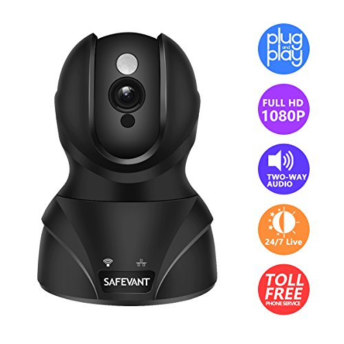 SAFEVANT 1080P HD WiFi IP Security Camera Wireless Security Camera System Home Monitor with Two-Way Audio Motion Detection Night Vision by SAFEVANT