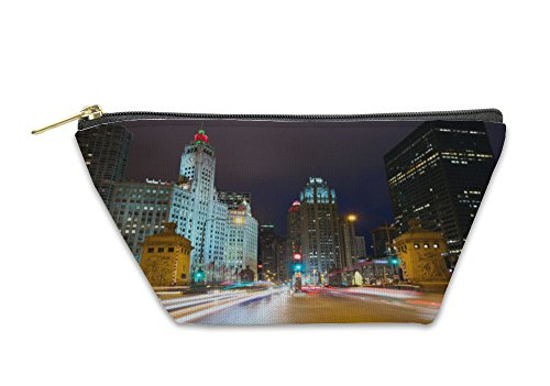 Gear New Accessory Zipper Pouch, Magnificent Mile In Chicago, Large, - Mile On The Magnificent Stores