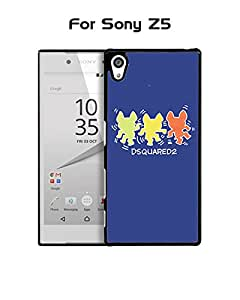 Sony Z5 Funda Case Brand Logo Dsquared Plastic Anti Scratch Vintage Drop Proof Customized Compatible with Sony Xperia Z5 (Only For Sony Z5)