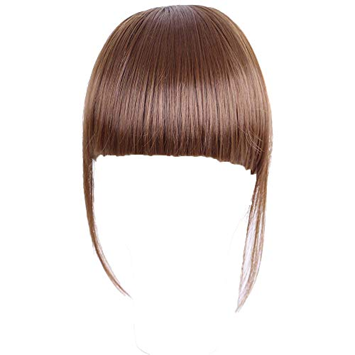 (Valentine's Day Gift!!! Jumberri Women Pretty Girls Clip On Clip In Front Hair Bang Fringe Hair Extension Piece)