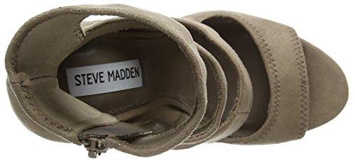 Marrone 10002 Donna taupe Tacco Col Madden Sandal Tawnie Scarpe Steve w0xzqav4U