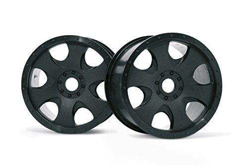 HPI Racing 3191 Warlock Wheel (2-Piece), Black, 83x56mm