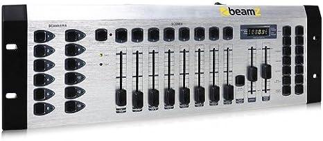 Beamz DMX-192S Mesa Control de Iluminación 192 Canales Midi ...