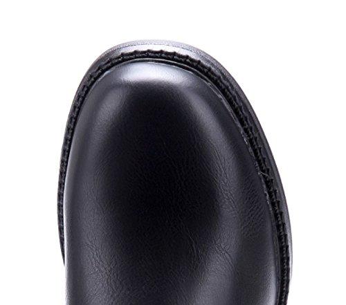 ... Schuhtempel24 Damen Schuhe Klassische Stiefeletten Stiefel Boots Blockabsatz  Schnalle 4 cm Schwarz ... dd1de609af