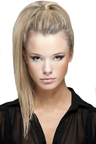 Mia Tonytail Ponytail Wrap Made Of Synthetic Wig Hair On An Elastic Rubber Band, Classic and Effortless, Blonde Color, PATENTED, 1 pc ()
