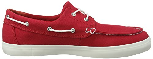 Timberland Herren Newport Bay 2-Eye Canvas Mokassin Rot (Red Canvas 626)