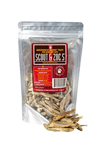 Whole Minnows Fish Treats Cats Dogs - All Natural Made in The USA