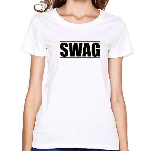 GGifKCU KCCO - Swag - Swagger - Hip-Hop T Shirts For Woman L White by GGifKCU
