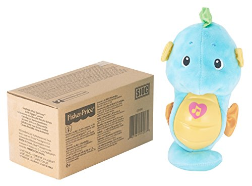 41phyUy7rCL - Fisher-Price Soothe & Glow Seahorse, Blue