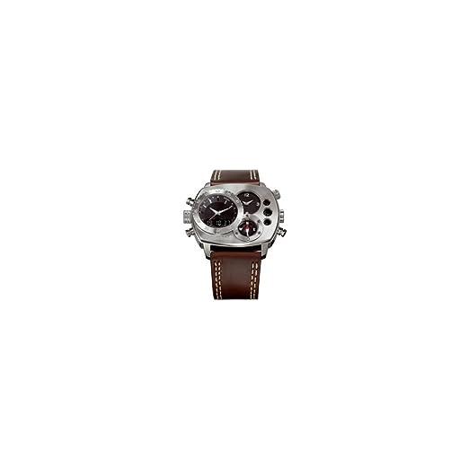 Timberland QT8162101 - Reloj para hombres, correa de cuero color marrón: Amazon.es: Relojes