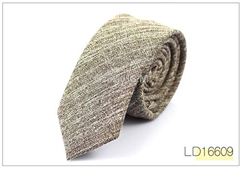 (Graven 2017 Fashion Casual Cotton Solid Mens Ties for Men 6CM Width Narrow Wedding Business Groons Necktie Fresh Neck Tie Neckwear - (Color: LD16609))