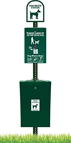 ZeroWaste Gladiator Dog Waste Station with Zero Waste Bag System by Zero Waste USA