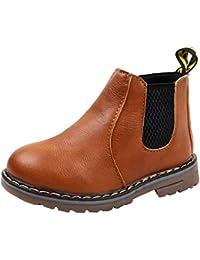 Boy's Girl's Waterproof Side Zipper Short Ankle Winter Snow Boots