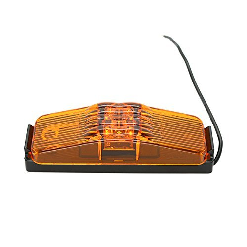 USA 1x4-Inch Amber LED Clearance Side Marker Light with Black Bracket for Camper / Trailer Truck TecNiq S19-AA00-1