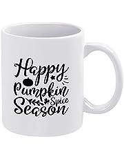 Happy Pumpkin Spice Season Fall Koffie Mok Rustieke Keramische Mok Grappige Nieuwigheid Thee Cup 11 oz Verjaardagscadeau voor Vrouwen Mannen