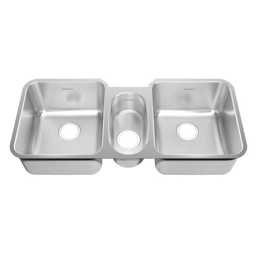 American Standard 16TB..411900.073 Prevoir 41-Inch Stainless Steel Undermount Triple Bowl Kitchen Sink, Radiant Silk - Kitchen Triple Bowl Sink