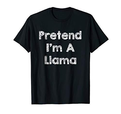 Pretend I'm A Llama Costume Funny Halloween Shirt Outfit ()