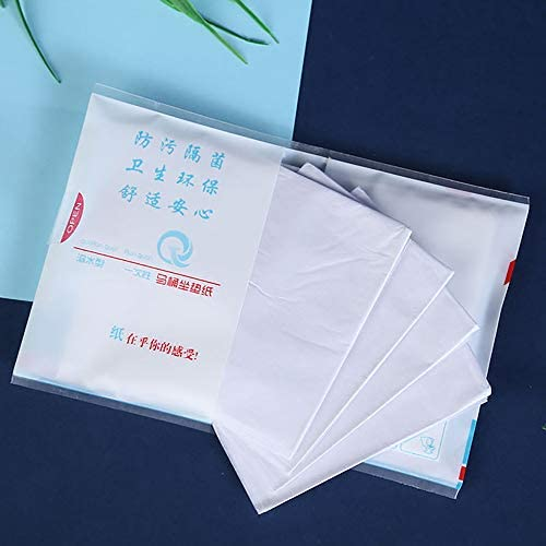 可溶性水旅行使い捨てトイレパッド10個ポータブルトイレパッド使い捨てトイレパッドクッション紙