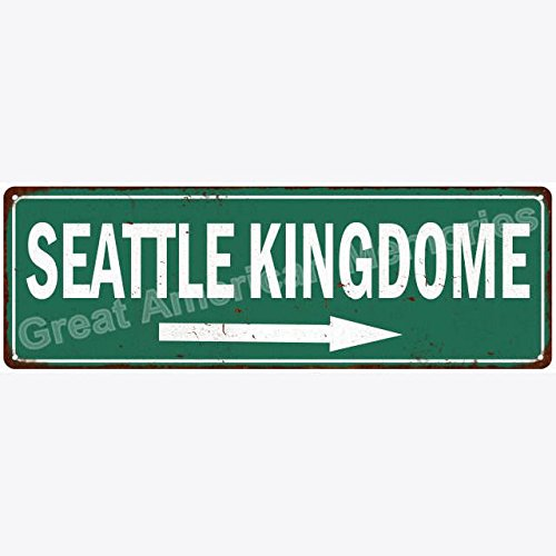 ACOVE Seattle Kingdome Vintage Look Reproduction Metal Sign 4x18 inch
