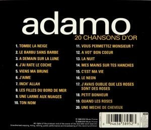 20 Chansons D'or by Adamo