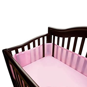 Mesh Crib Liner Color Pink By BreathableBaby