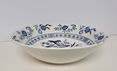 """J & G Meakin England Blue Nordic 8 1/4"""" Vegetable Serving Bowl"""