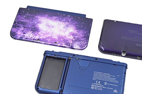 Yuntown Main Engine Cover Case Hard Shell Replacement Repair Accessory 5in1 Set for Nintendo New3DSXL US Edition -Sky