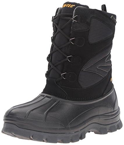 (Hi-Tec Men's Hokkaido 200g Waterproof-M Snow Boot, Black/Grey, 13 M US)