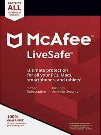 McAfee Live Safe Unlimited number of devices