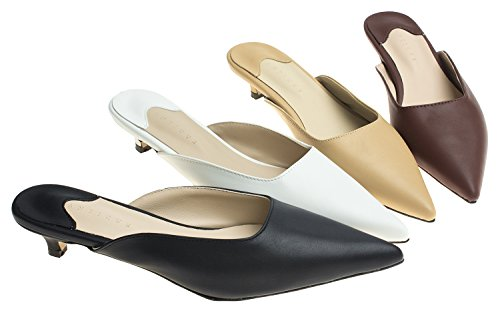 07a17e7c2b9 Jual AnnaKastle Womens Pointy Toe Low Kitten Heel Mule Slide Sandal ...