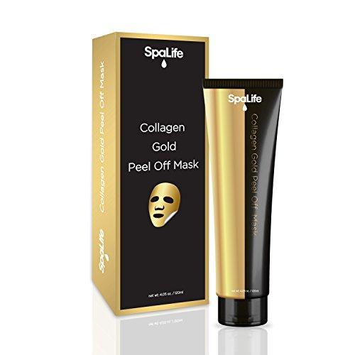 (Spa Life Argan Black Mask - Blackhead Remover - Collagen Gold Face Mask - Peel Off Mask - 4.05oz (Collagen)