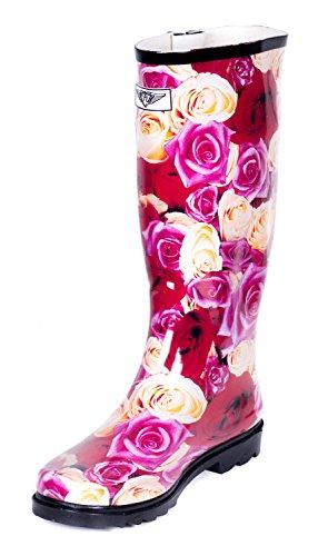 Evigt Unga - Womens Wellie Regn Boot Rosenträdgård